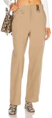 R 13 Slouch Ring Pant in Khaki Leopard | FWRD