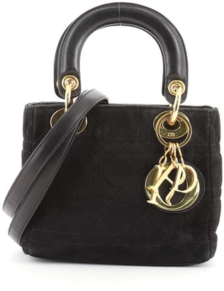 Christian Dior Lady Bag Cannage Quilt Suede Mini