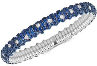 Zydo Stretch 18K White Gold, Blue Sapphire & Diamond Bracelet