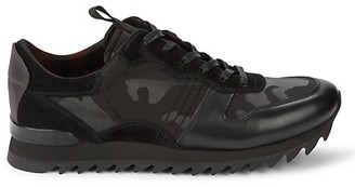 Karl Lagerfeld Paris Camo Mixed-Media Runners