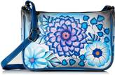 Anuschka Anna By Anna by Hand Painted Leather Women's Mini Wide Crossbody