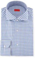 Isaia Box-Check Cotton Dress Shirt