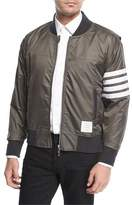 Thom Browne 4-Bar Striped Bomber Jacket