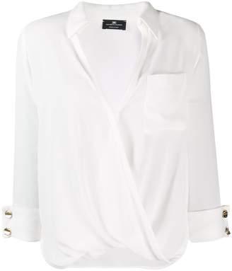 Elisabetta Franchi draped front blouse