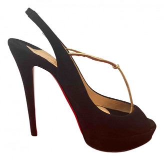 Christian Louboutin Private Number Black Suede Heels