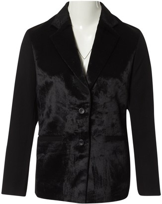 Issey Miyake Black Velvet Jacket for Women