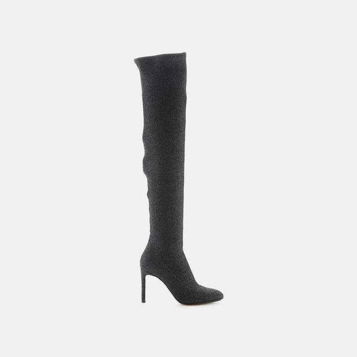 Giuseppe Zanotti Natalie Stretch Glitter Over The Knee Boot