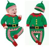 Changeshopping Unisex Baby Clothes Outfits Kids Romper Hat Cap Set Christmas