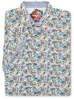 Robert Graham Big & Tall Floral Printed Dress Shirt