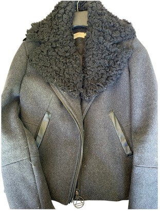 Eleven Paris Black Wool Jacket for Women