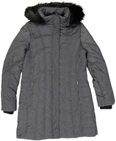 Weatherproof Melange Gray Faux Fur-Trim Polyfill Puffer Coat