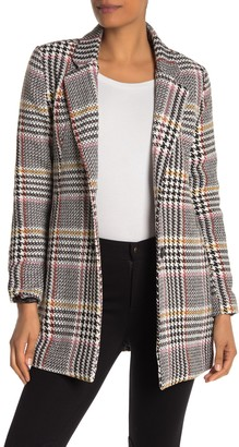 Sebby Glen Plaid Two Button Woven Coat