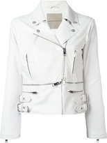 Ermanno Scervino zipped details strappy jacket - women - Polyamide/Acetate/Silk - 40