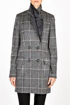 Vanessa Bruno Prince Of Wales Check Wool Coat