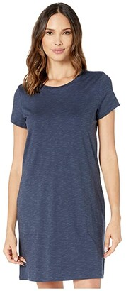 Toad&Co Windmere II Short Sleeve Dress (True Navy) Women's Clothing