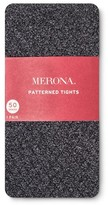 Merona Women's Plus-Size Tights Diamond Texture Heather Gray 2X