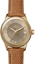 Shinola Gail 36mm Leather Strap Watch, Dark Camel/Golden