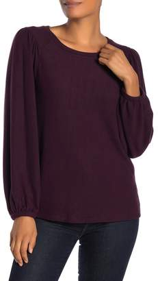 H By Bordeaux Balloon Sleeve Scoop Neck Sweater