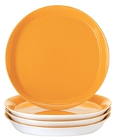 Rachael Ray Dinnerware Round & Square Collection 4-Piece Set of 11-Inch Dinner Plates, Yellow