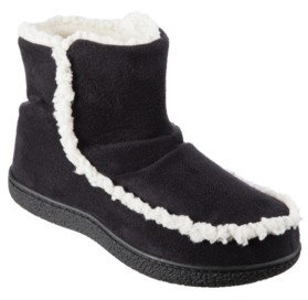 Isotoner Signature Isotoner Microsuede Alex Boot with 360 Surround Memory Foam Slippers, Online Only
