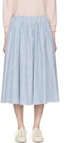 MAISON KITSUNÉ Blue Striped Estelle Skirt