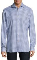 Kiton Multi Check Button-Down Shirt