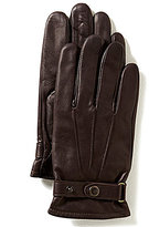 Roundtree & Yorke Murano Buckled Leather Gloves