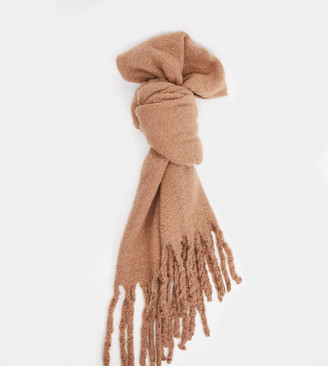 My Accessories London Exclusive supersoft scarf in camel
