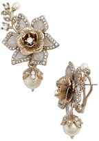 Marchesa Crystal & Faux Pearl Drop Earrings