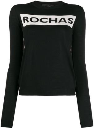 Rochas Logo Print Fine Knit Jumper