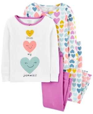 Carter's Baby Girl 4-pc. Snug Fit Cotton Pajamas