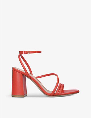 Gianvito Rossi Bekah leather block-heeled sandals
