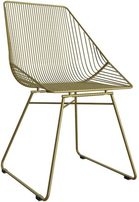 CosmoLiving by Cosmopolitan Ellis Accent/Dining Chair - Gold Metal