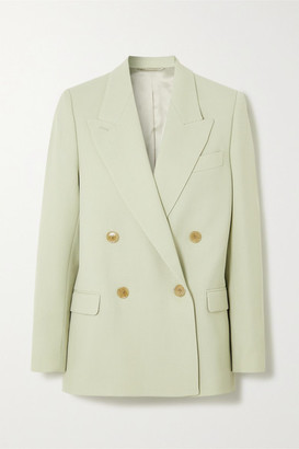 Acne Studios Janny Double-breasted Woven Blazer - Mint