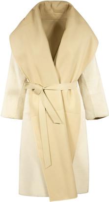 Max Mara V-neck Belted Long Coat