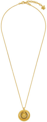 Versace Gold and Black Chain Medusa Necklace