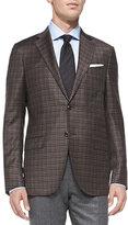Ermenegildo Zegna Check Two-Button Jacket, Brown
