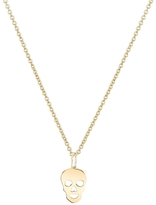 Sydney Evan 14K Tiny Skull Necklace