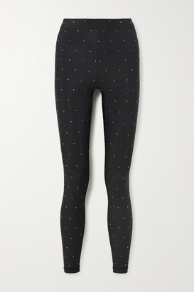 Adam Selman Sport Crystal-embellished Stretch Leggings - Black