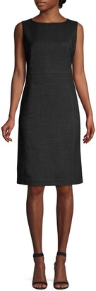 Lafayette 148 New York Brett Stretch Virgin-Wool Sheath Dress