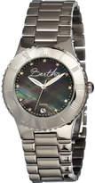 Mother of Pearl Women's Bertha Millicent BR2702 - Steel/Black Wrist Watches
