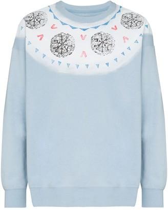 Visvim Koch fair isle-print cotton-jersey sweatshirt
