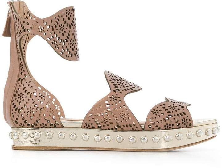 Giambattista Valli perforated strap sandals