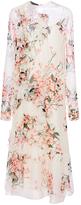 Rochas Long Sleeve Floral Dress