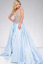 Jovani Cap Sleeves Embellished Pageant Dress 40978