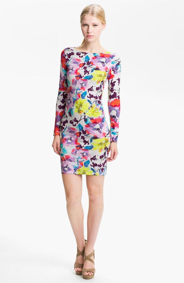 Alice + Olivia 'Tabitha' Floral Print Jersey Dress