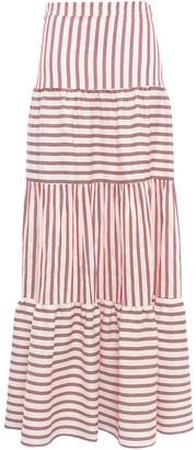 Paper London Striped Woven Maxi Skirt