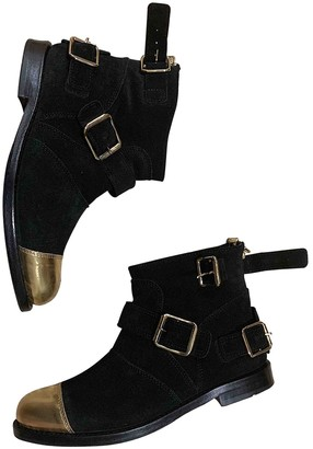 Balmain For H&m Black Leather Boots