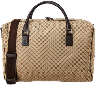 Gucci Brown Diamante & Leather Duffle Bag