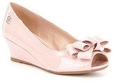 Jessica Simpson Girls' Gayla Bow Peep-Toe Wedges